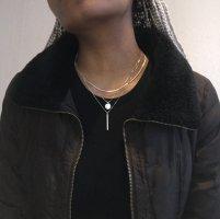 Zara Kurtka zimowa czarno-brązowy