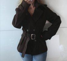 Pea Jacket black brown