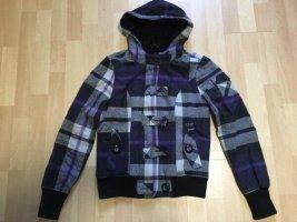 Winterjacke flauschige Jacke violett