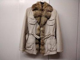 Brax Veste d'hiver beige clair coton