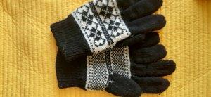 Gloves black-light grey