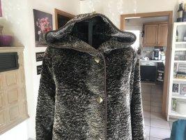 Manteau à capuche multicolore acétate