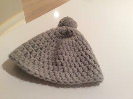 Wintermütze in grau aus Wolle