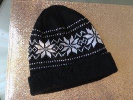 Cappello a maglia nero-bianco
