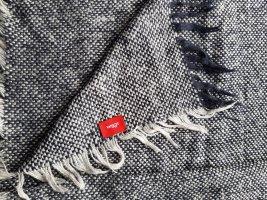 s. Oliver (QS designed) Woolen Scarf natural white-dark blue