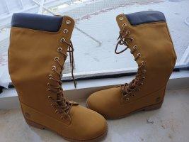 Aanrijg laarzen zandig bruin