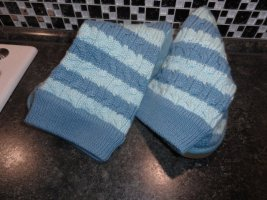 UGG Botas elásticas azul aciano-azul bebé Algodón