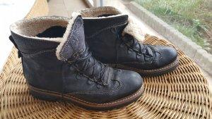Winterschuhe Schnürschuhe schwarz echtes Leder Kämpgen 37 38