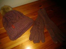edc by Esprit Chapeau en tricot rose laine