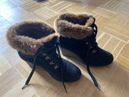 Buffalo girl Snow Boots black-brown