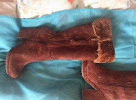 Platform Boots cognac-coloured-brown