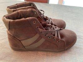 bpc Bottines à lacets gris brun cuir