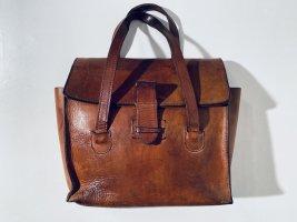 Wirklich alte Vintage Tasche/Handtasche aus braunem Leder
