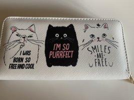 Witzige Geldbörse mit Katzendruck
