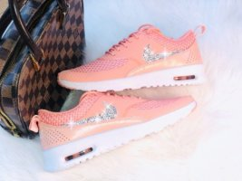 WMNS Nike Air Max Thea Crimson Bliss mit Swarovski Elements Luxus Sneaker Coral