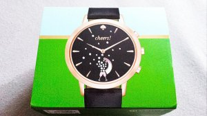 Kate Spade Reloj con pulsera de cuero multicolor acero inoxidable