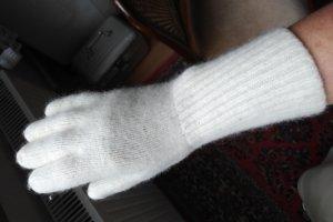 Rękawiczki z dzianiny kremowy Wełna