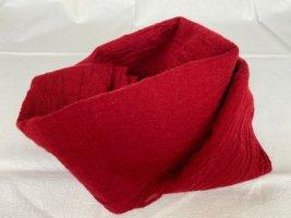 Fraas Bufanda de lana rojo oscuro Lana