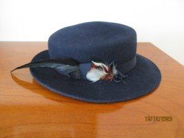Chapeau en feutre bleu foncé