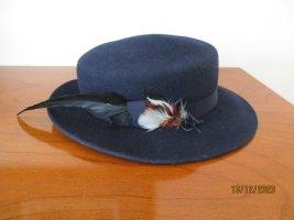 Wełniany kapelusz ciemnoniebieski
