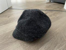Benetton Chapeau en laine gris-noir