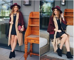 Zara Hat carmine-bordeaux