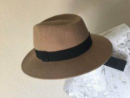 Replay Chapeau en feutre beige-noir laine