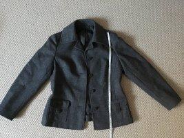Hucke Blazer in lana nero-grigio