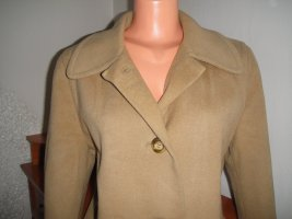 Aus Florenz Abrigo de lana marrón arena-color oro