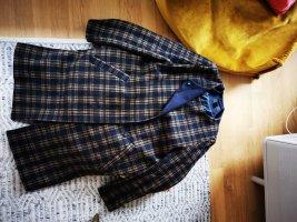 H&M Wool Coat dark blue-sand brown wool