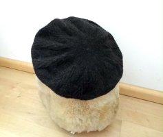 Wollmütze, Barett, Baskenmütze - dunkelbraun - Zara