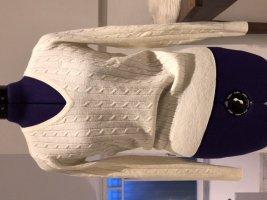 Wollpullover von GANT, Größe S, leichte Qualität Mit Zopfmuster und V-Ausschnitt
