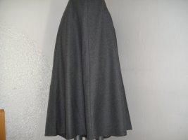 -8- Venice Falda de lana gris oscuro-gris Lana