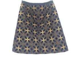 Boden Mini rok donkerblauw-donkergeel Wol