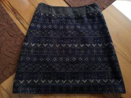 Gerry Weber Wollen rok antraciet-donkerblauw