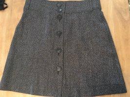 Massimo Dutti Wełniana spódnica czarny-biały