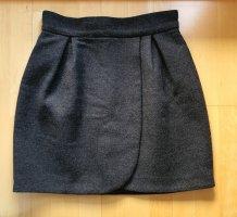 Miu Miu Wełniana spódnica ciemnoszary-antracyt