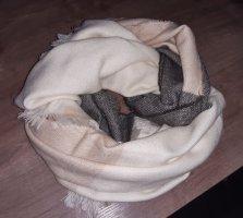Wollschal beige-grau mit Fransen, Orsay
