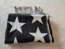 Sciarpa di lana nero-grigio