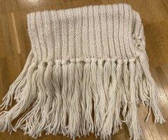 H&M L.O.G.G. Sciarpa lavorata a maglia bianco sporco
