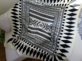 Zara Accesoires Bufanda de lana blanco-negro