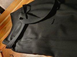 Wraparound Skirt black wool