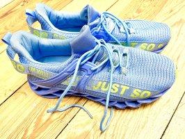 Amazon Sneakers met veters neongeel-azuur