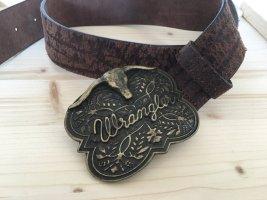 Wrangler Leather Belt dark brown leather