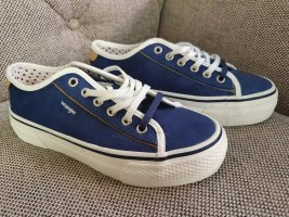 Wrangler Sneaker Neu Gr. 38 Weiß blau Turnschuhe Schuhe Plateau