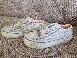 Wrangler Sneaker Neu Gr. 38 Weiß Silber Turnschuhe Schuhe Plateau
