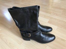 Geox Bottes à tige large noir cuir