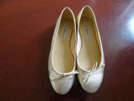 Mary Jane Ballerinas gold-colored leather