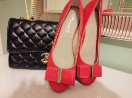 Slingback Ballerinas red leather