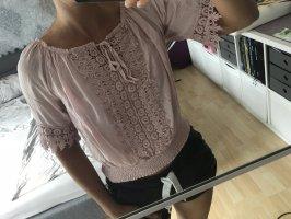 Wunderschöne Bluse mit Spitze/100% Baumwolle